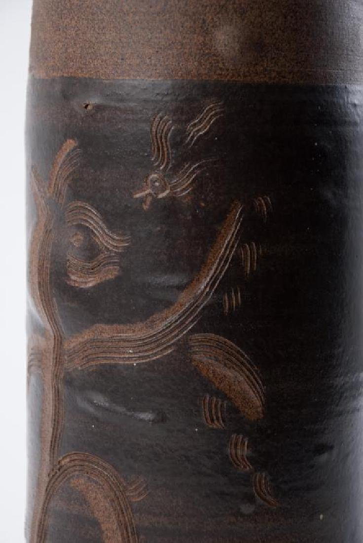 EDWIN AND MARY SCHEIER DECORATED VASE - 3