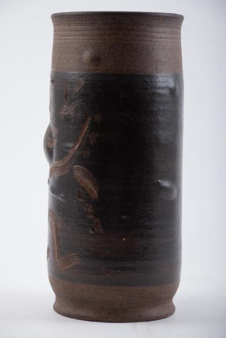 EDWIN AND MARY SCHEIER DECORATED VASE - 7