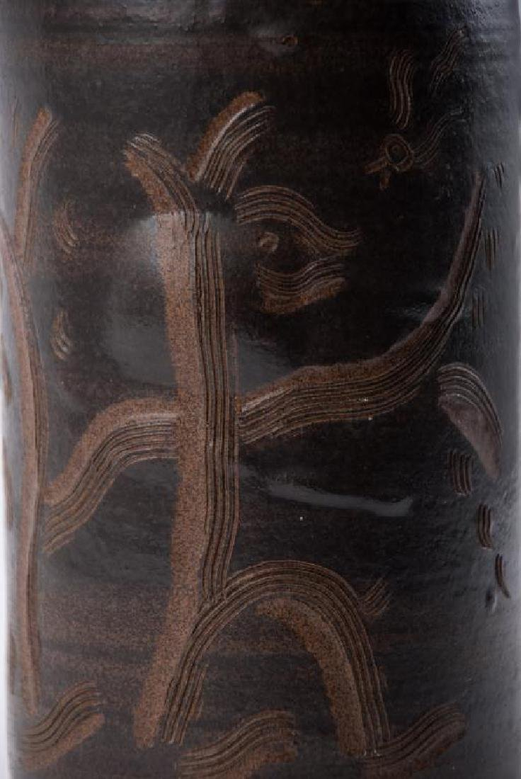 EDWIN AND MARY SCHEIER DECORATED VASE - 8