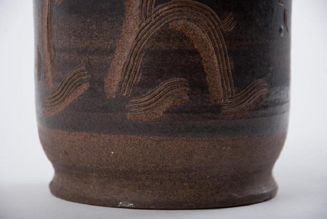 EDWIN AND MARY SCHEIER DECORATED VASE - 9