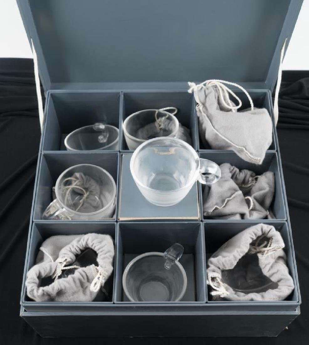 (8) STEUBEN CUPS WITH APPLIED HANDLES - 2