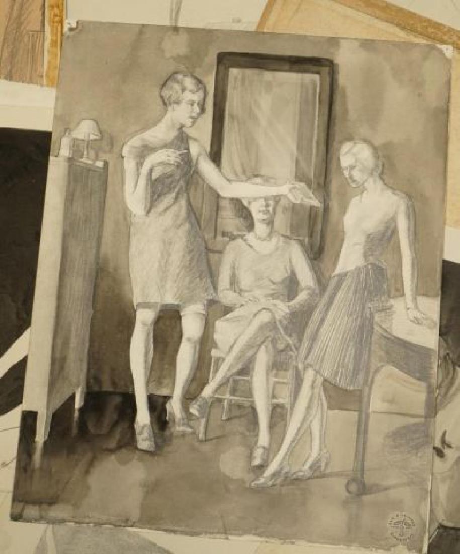 BEATRICE NELSON (Mid 20th c) PORTFOLIO OF ART - 10