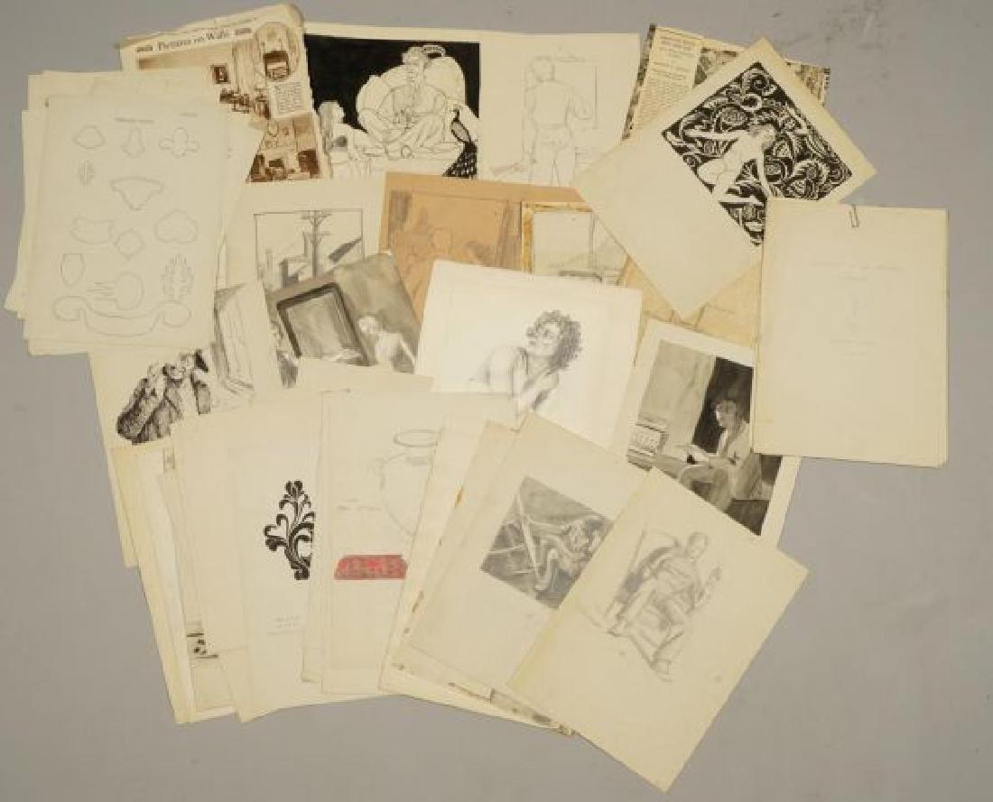 BEATRICE NELSON (Mid 20th c) PORTFOLIO OF ART