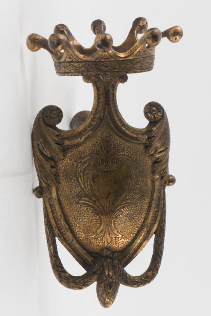 GILT BRONZE AND IRON PROCESSIONAL PIECE