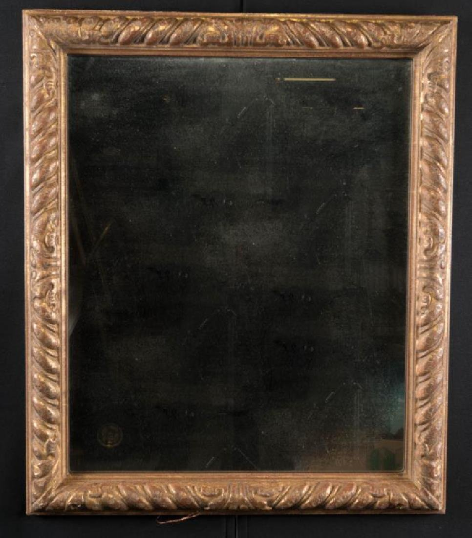 (19th c) ITALIAN CARVED AND GILT FRAME WITH MIRROR