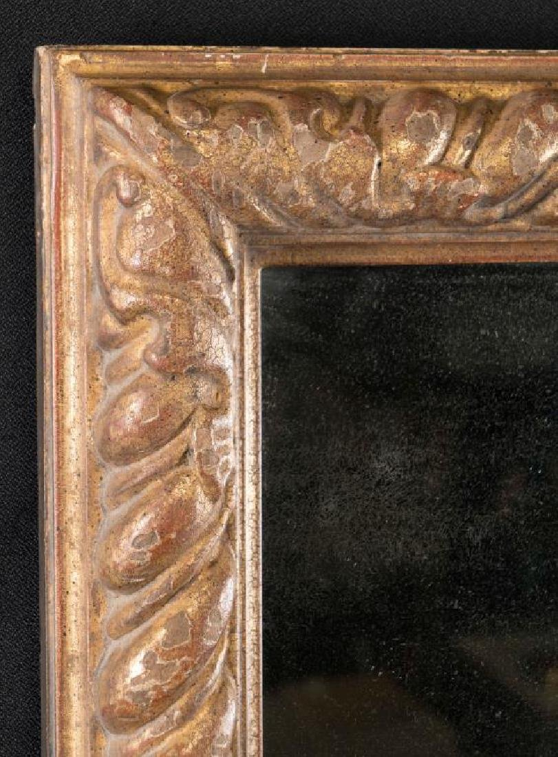 (19th c) ITALIAN CARVED AND GILT FRAME WITH MIRROR - 2