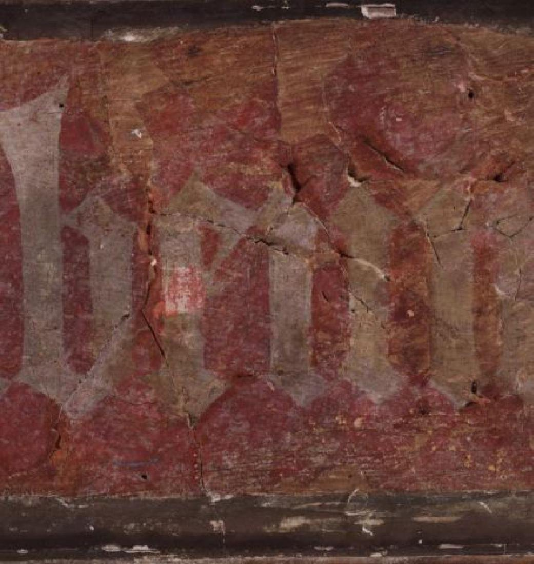 FRAGMENT OF AN ANCIENT GERMAN FRESCO - 3