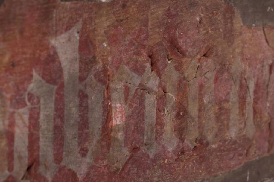 FRAGMENT OF AN ANCIENT GERMAN FRESCO - 4