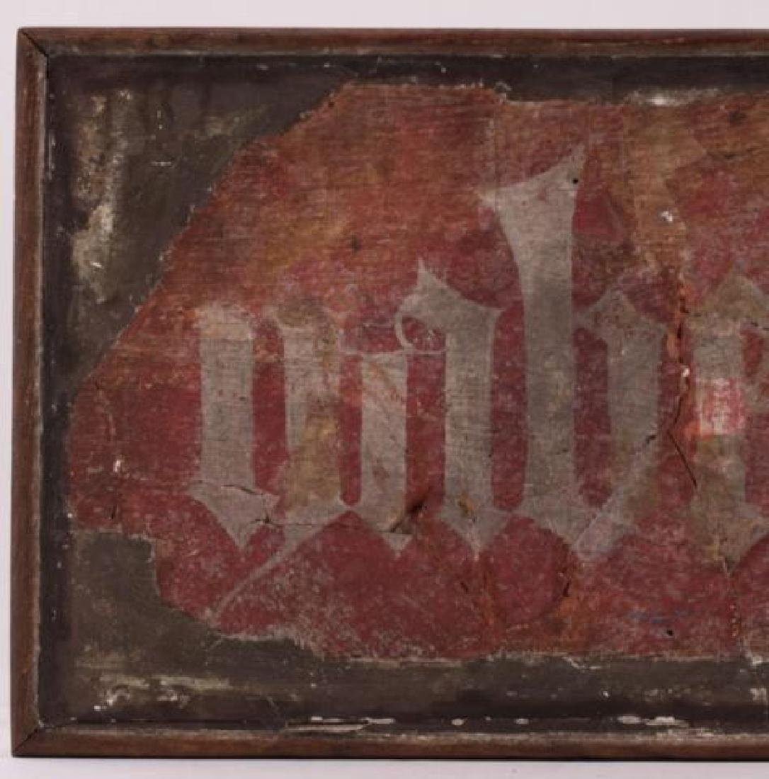 FRAGMENT OF AN ANCIENT GERMAN FRESCO - 6