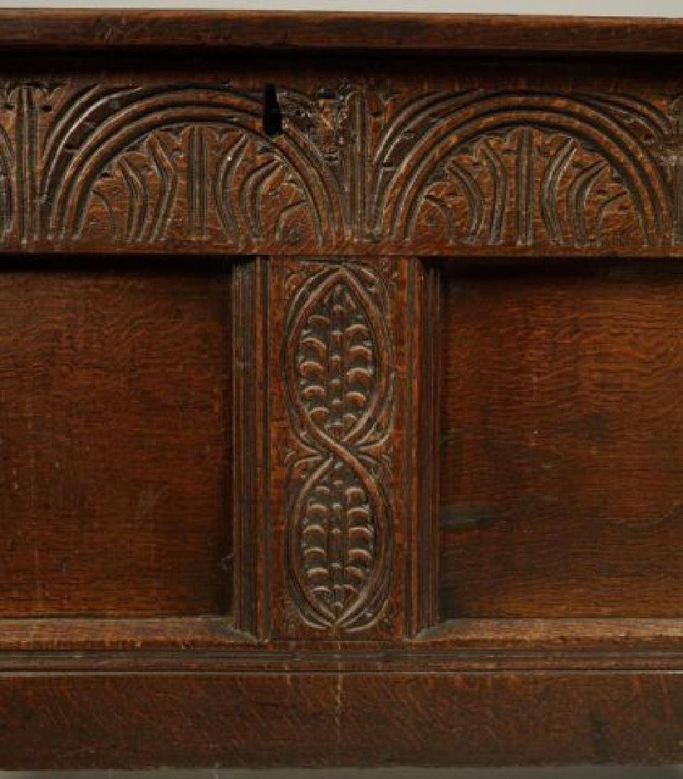 (17th c) JOINED OAK BLANKET CHEST - 8
