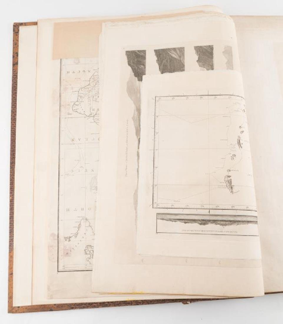 "(VIII) VOLUMES ""COOK'S VOYAGES"" and PORTFOLIO 17 - 5"