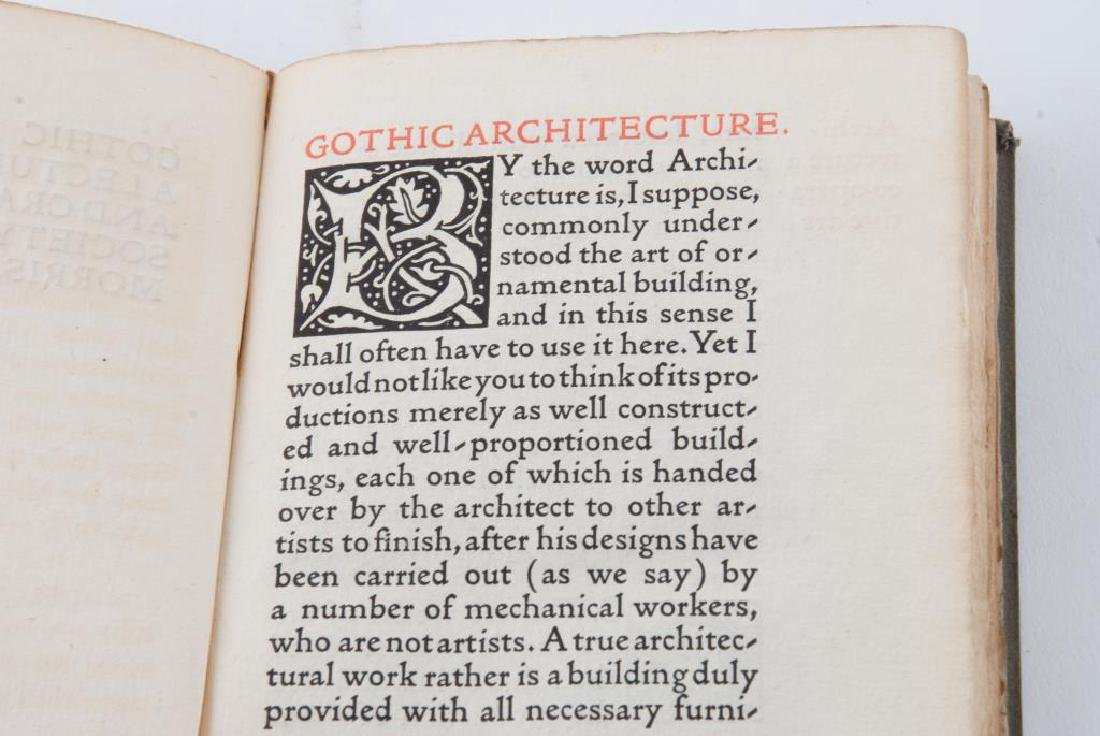 GOTHIC ARCHITECTURE: A LECTURE by WILLIAM MORRIS - 2