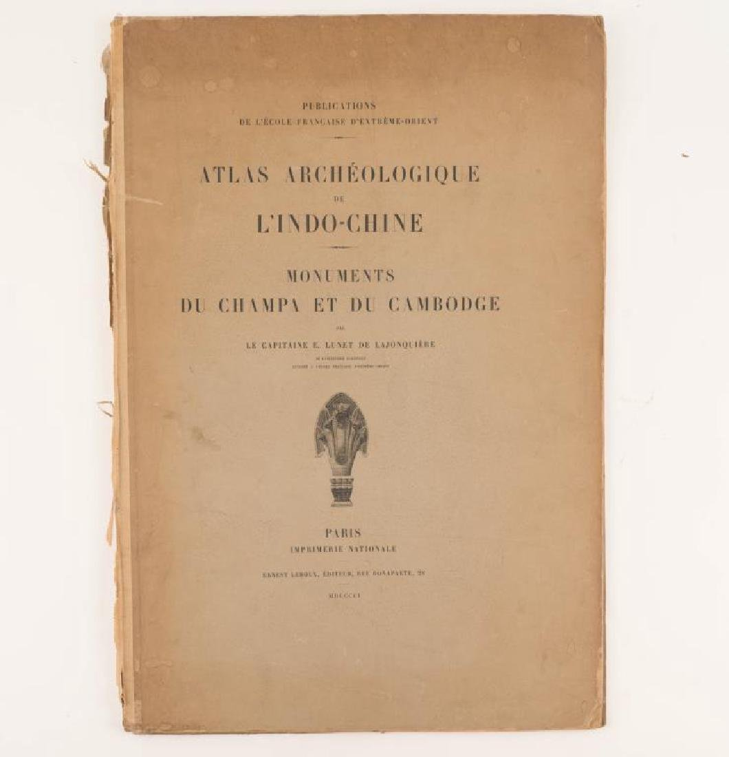 1901 ATLAS ARCHEOLOGIQUE de L'INDO-CHINE