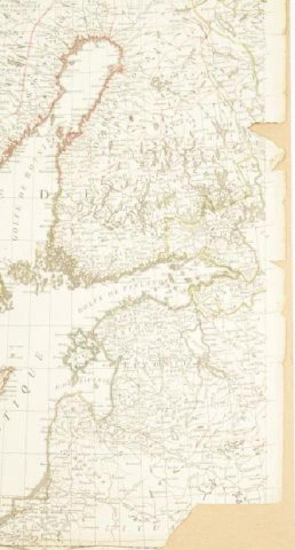 (19th c) FRENCH MAP OF ICELAND AND SCANDANAVIA - 3
