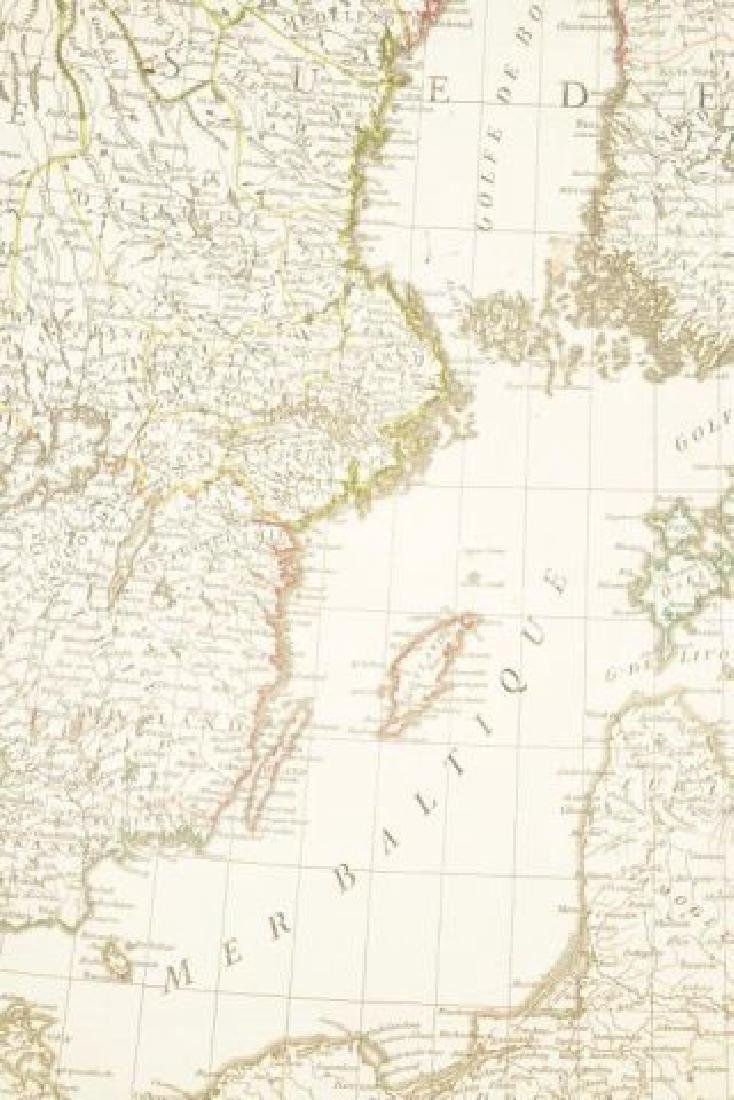 (19th c) FRENCH MAP OF ICELAND AND SCANDANAVIA - 4