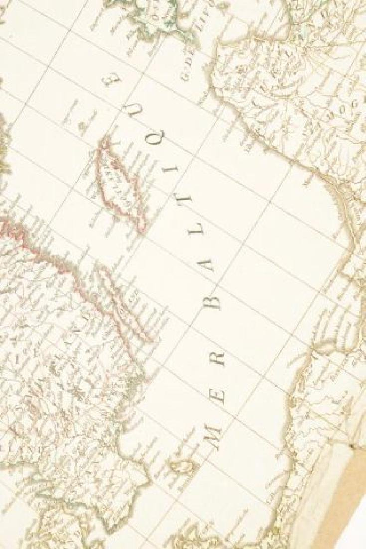 (19th c) FRENCH MAP OF ICELAND AND SCANDANAVIA - 5