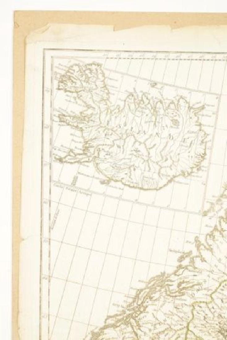 (19th c) FRENCH MAP OF ICELAND AND SCANDANAVIA - 6