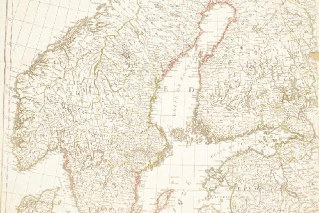 (19th c) FRENCH MAP OF ICELAND AND SCANDANAVIA - 7