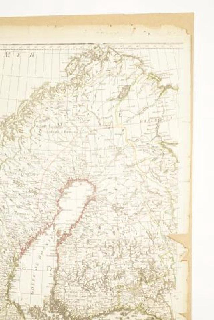 (19th c) FRENCH MAP OF ICELAND AND SCANDANAVIA - 8