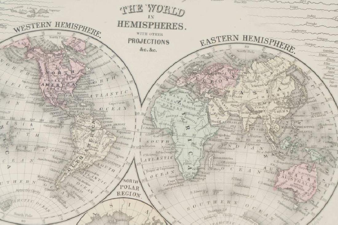 (3) EARLY MAPS and a PRINT AFTER WILLIAM BLAKE - 10