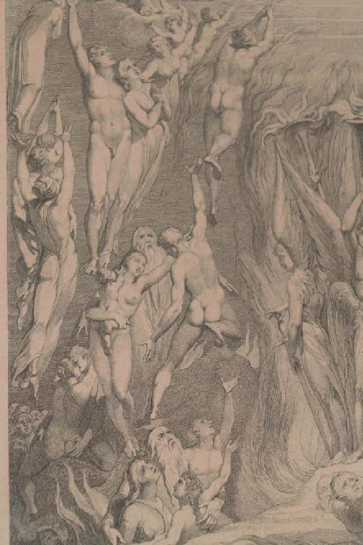 (3) EARLY MAPS and a PRINT AFTER WILLIAM BLAKE - 3
