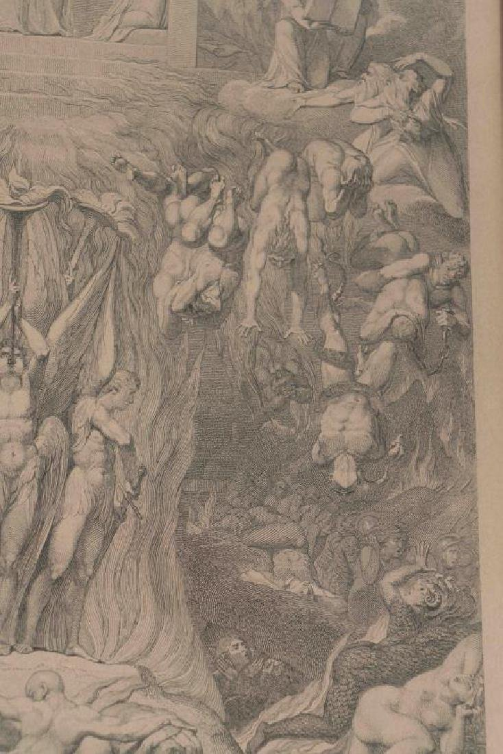 (3) EARLY MAPS and a PRINT AFTER WILLIAM BLAKE - 4