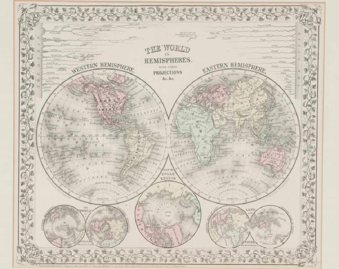(3) EARLY MAPS and a PRINT AFTER WILLIAM BLAKE - 6