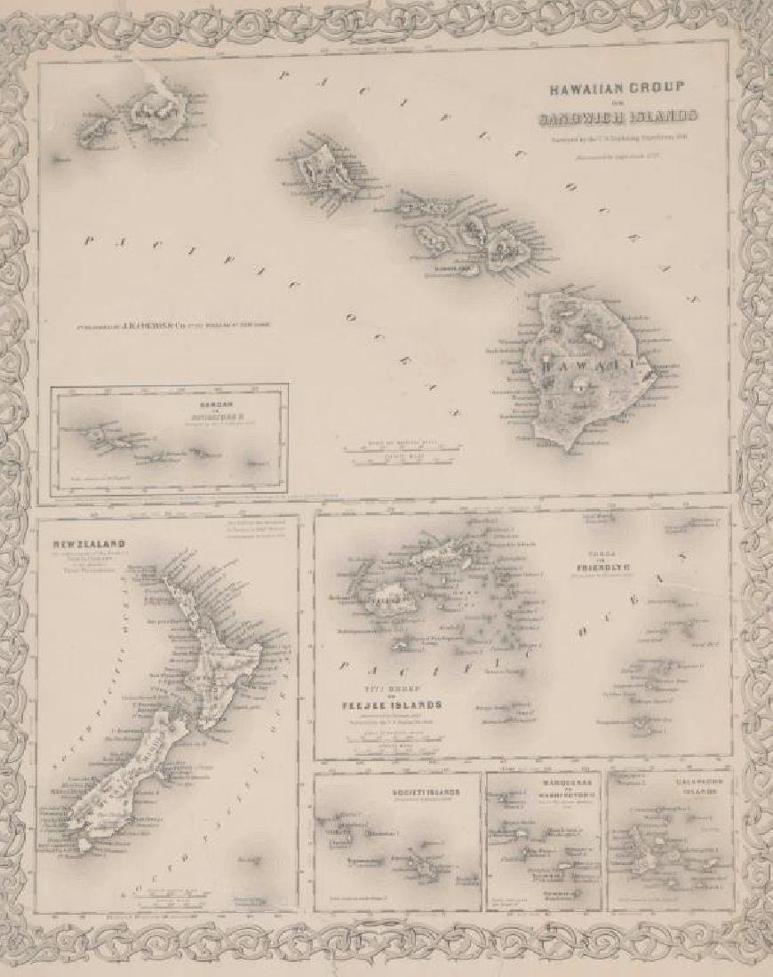 (3) EARLY MAPS and a PRINT AFTER WILLIAM BLAKE - 9