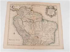 MAP OF SOUTH AMERICA in (2) PARTS c.1718