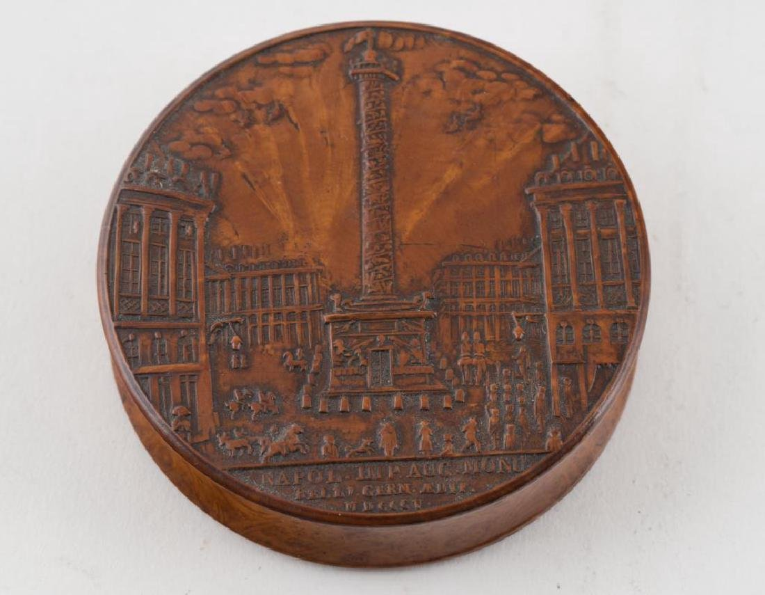(2) FRENCH PRESSED WOOD SNUFF BOXES AND A THIRD - 5