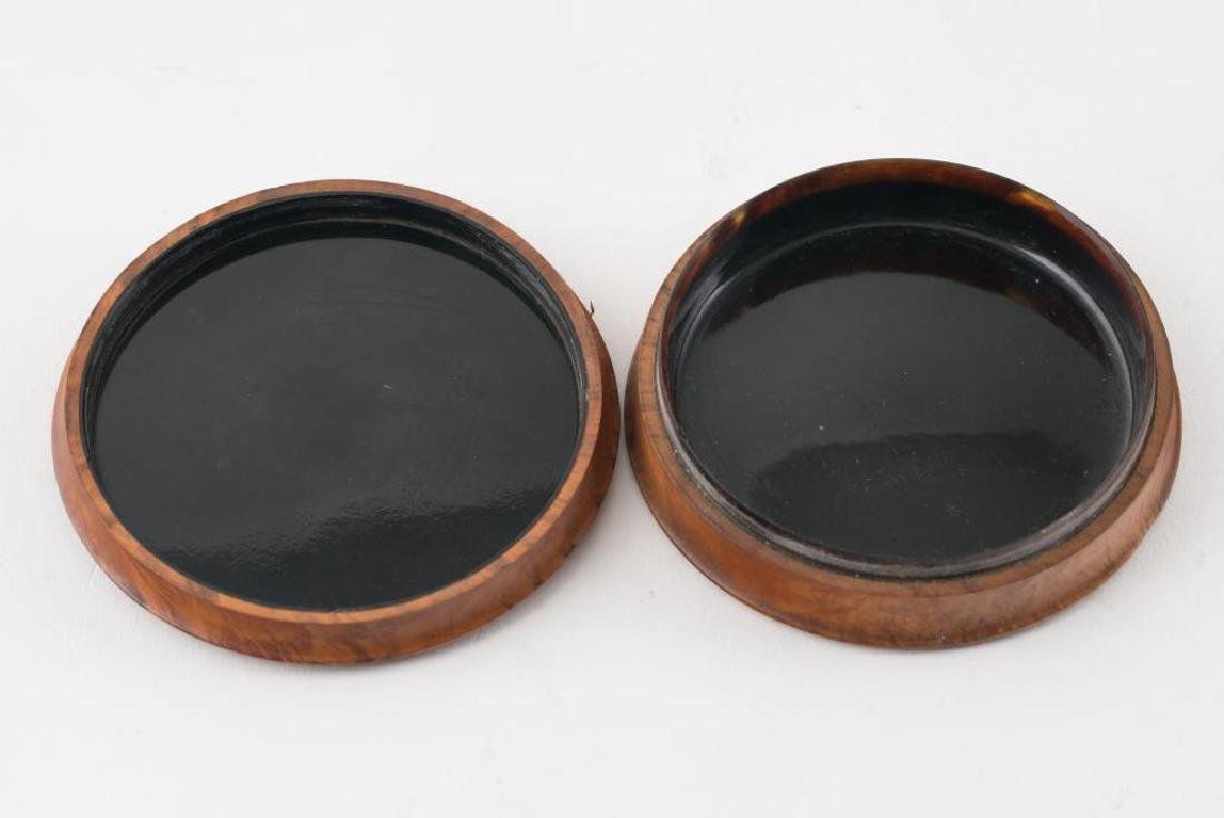 (2) FRENCH PRESSED WOOD SNUFF BOXES AND A THIRD - 8