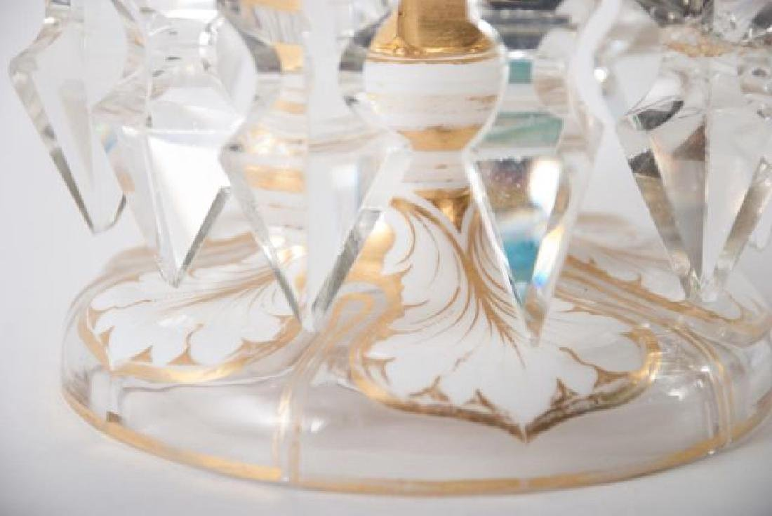COLLECTION OF VINTAGE DECORATIVE GLASS  ITEMS - 7
