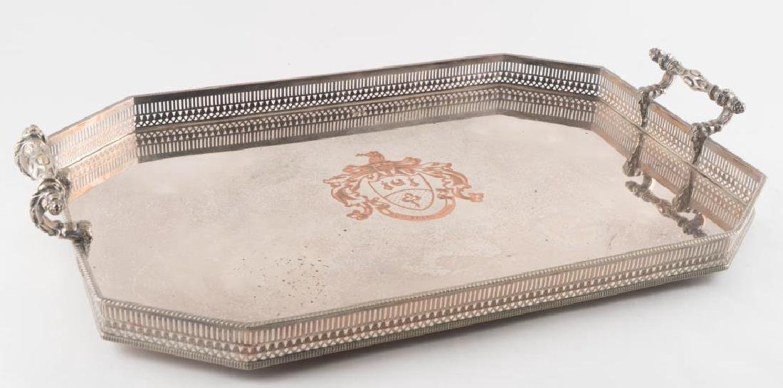 JOSEPH ELLIOT & SONS ARMORIAL GALLERY TRAY