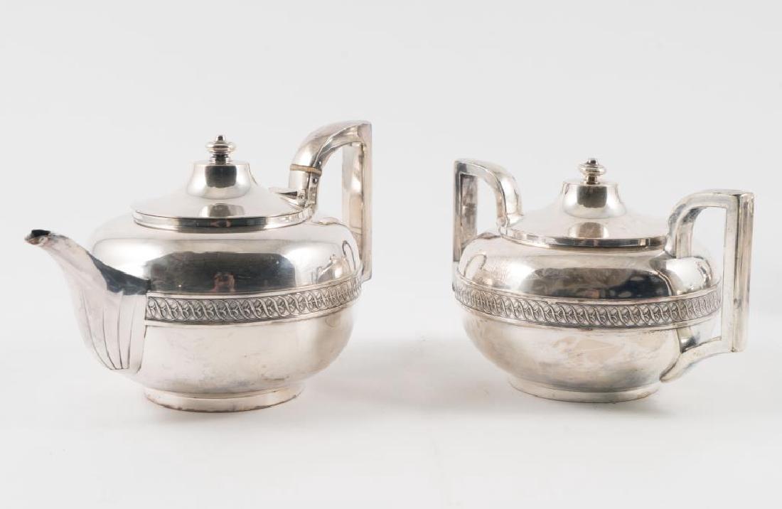 (5) PIECE GORHAM SILVER SOLDERED TEA SET with TRAY - 10