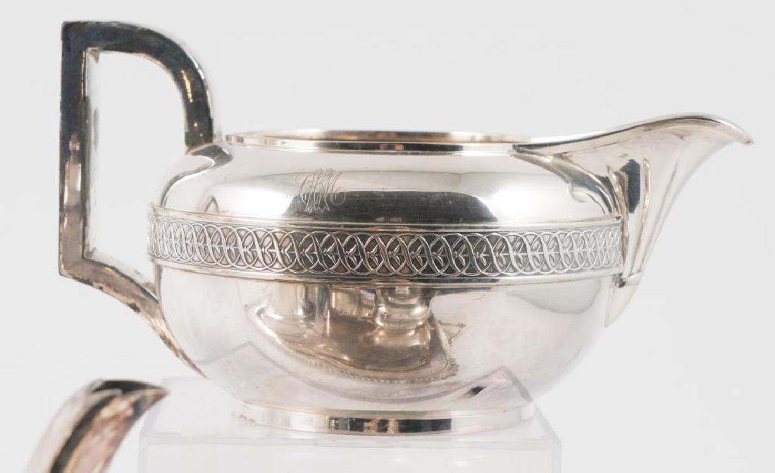 (5) PIECE GORHAM SILVER SOLDERED TEA SET with TRAY - 7