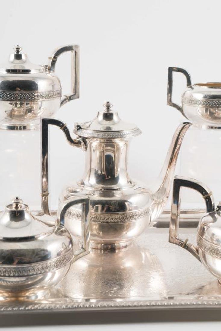 (5) PIECE GORHAM SILVER SOLDERED TEA SET with TRAY - 8