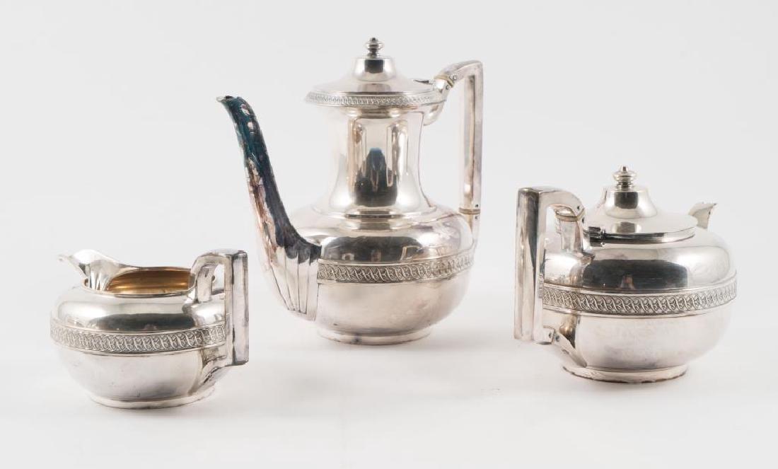 (5) PIECE GORHAM SILVER SOLDERED TEA SET with TRAY - 9