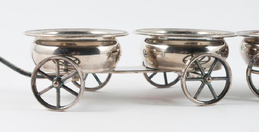 PAIR OF ROGERS SILVER PLATED DECANTER WAGONS - 3