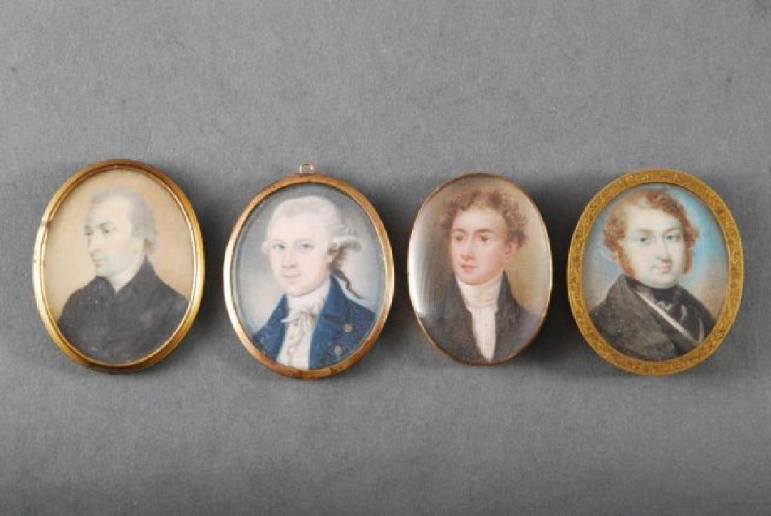 (4) (18th/19th c) PORTRAIT MINIATURES OF GENTLEMEN