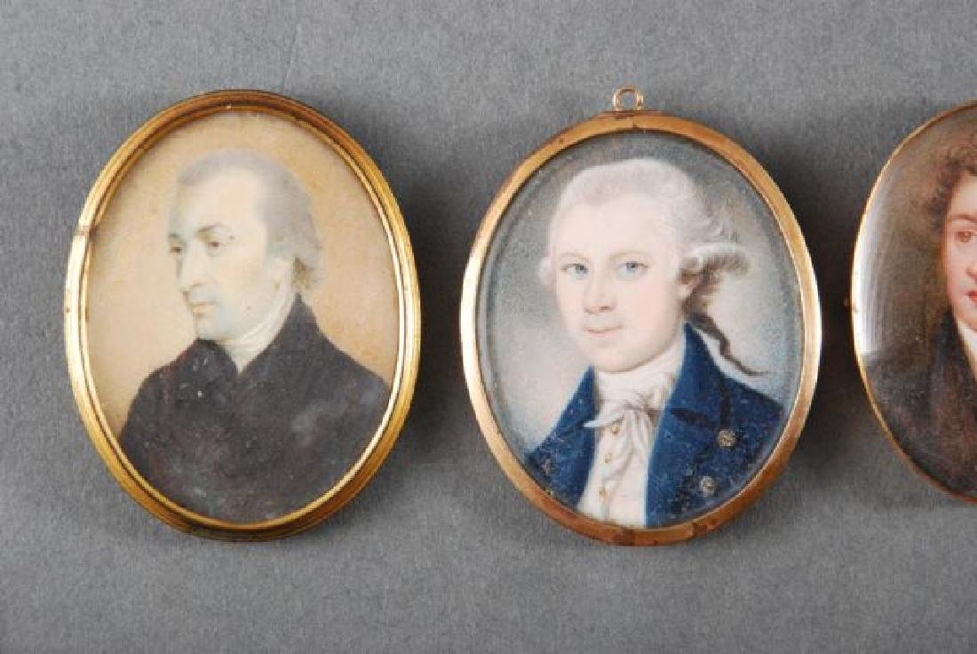 (4) (18th/19th c) PORTRAIT MINIATURES OF GENTLEMEN - 2