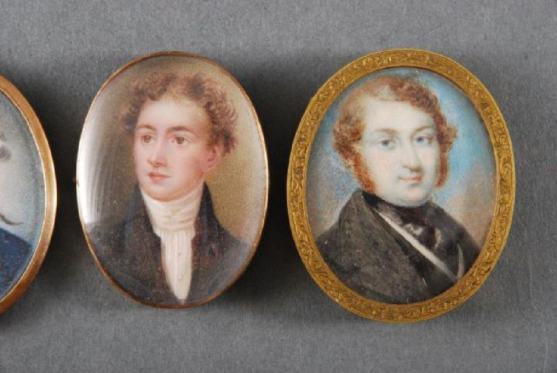 (4) (18th/19th c) PORTRAIT MINIATURES OF GENTLEMEN - 3
