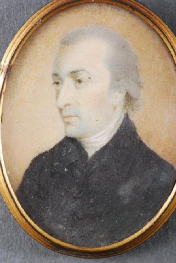 (4) (18th/19th c) PORTRAIT MINIATURES OF GENTLEMEN - 4