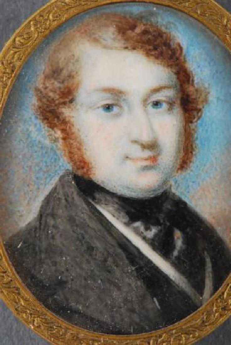 (4) (18th/19th c) PORTRAIT MINIATURES OF GENTLEMEN - 7