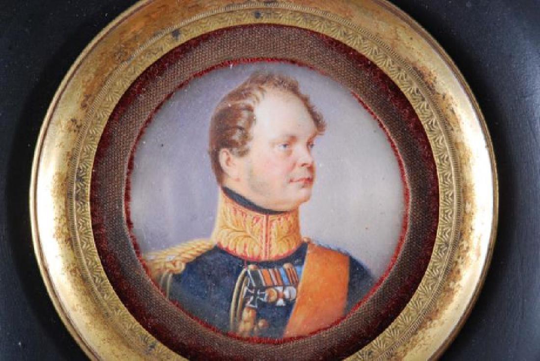 (19th c) PRUSSIAN GENERAL PORTRAIT MINIATURE - 4