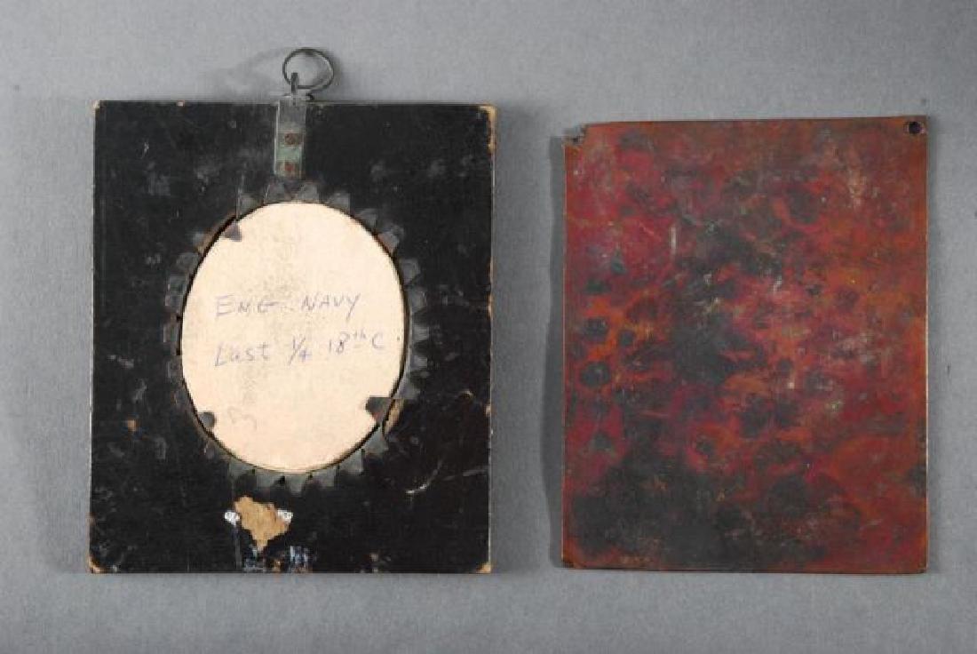 (18th c) MINIATURE & ENGLISH NAVAL SILHOUETTE - 3