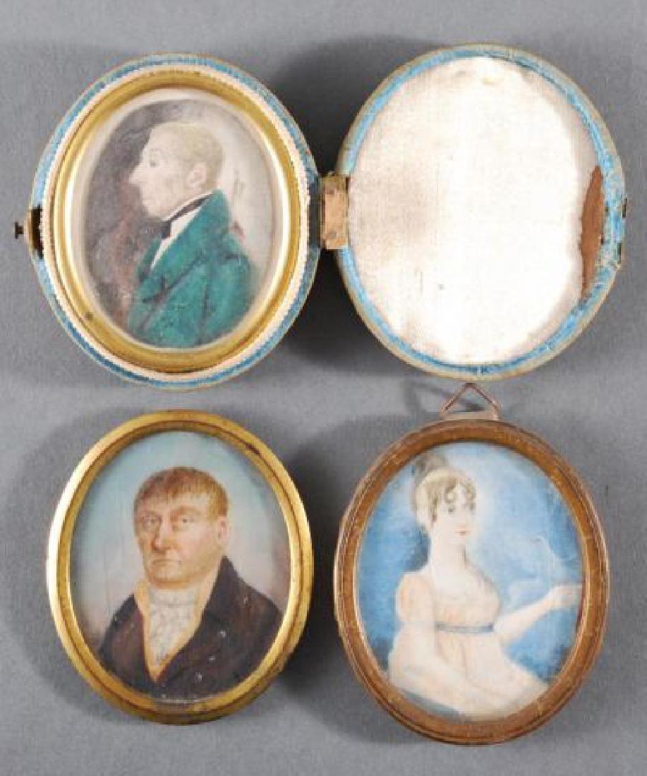 GROUP OF THREE AMERICAN PRIMITIVE PORTRAITS