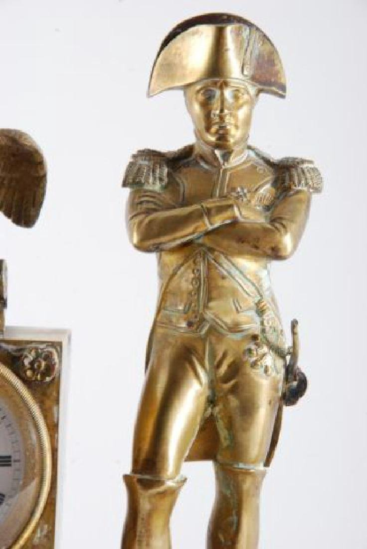 FRENCH GILT BRONZE FIGUERAL MANTLE SET w/ NAPOLEON - 9