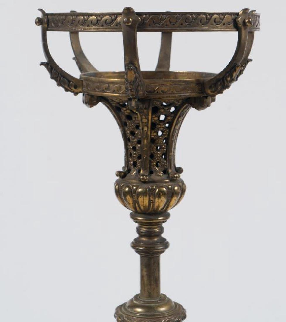 FINE QUALITY ANTIQUE BRASS TORCHIERE - 4