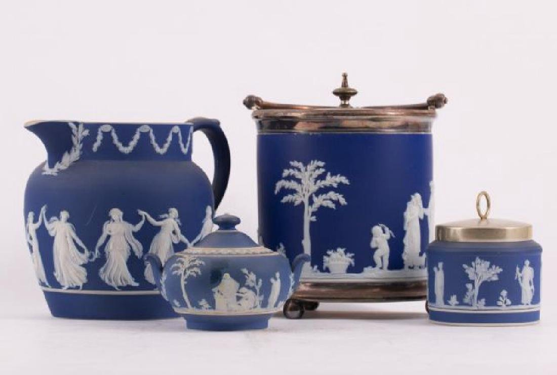 WEDGWOOD ICE BUCKET, SUGAR, CONDIMENT & JUG