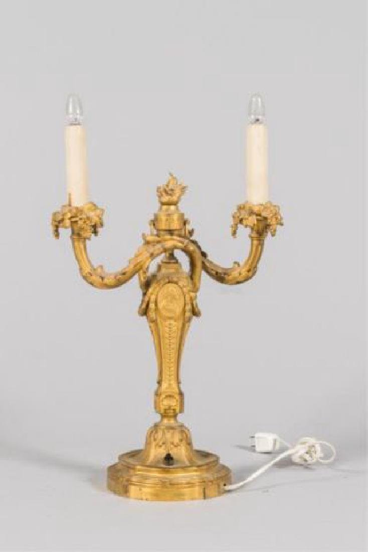 PAIR OF FRENCH GILT BRONZE CANDLESTICKS / GAGNEAU - 8